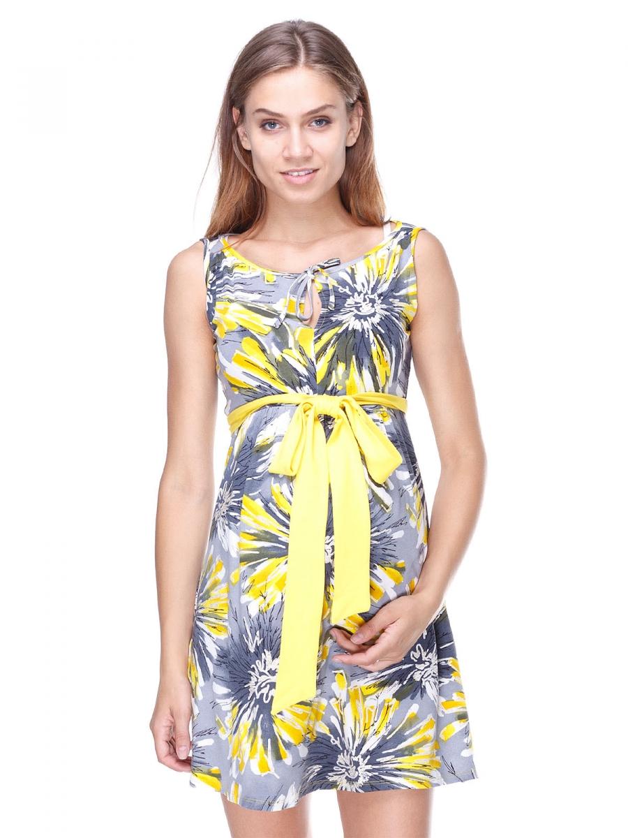 Желтый сарафан для беременных 457