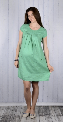Длинное льняное платье для беременных 722