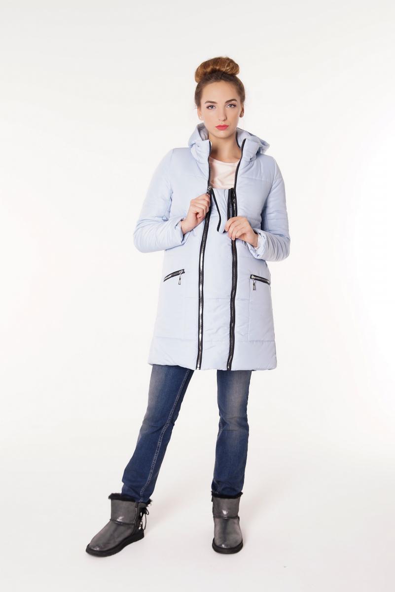8f9d34baa5be Зимняя курточка-трансформер для беременных и после «классика» голубая