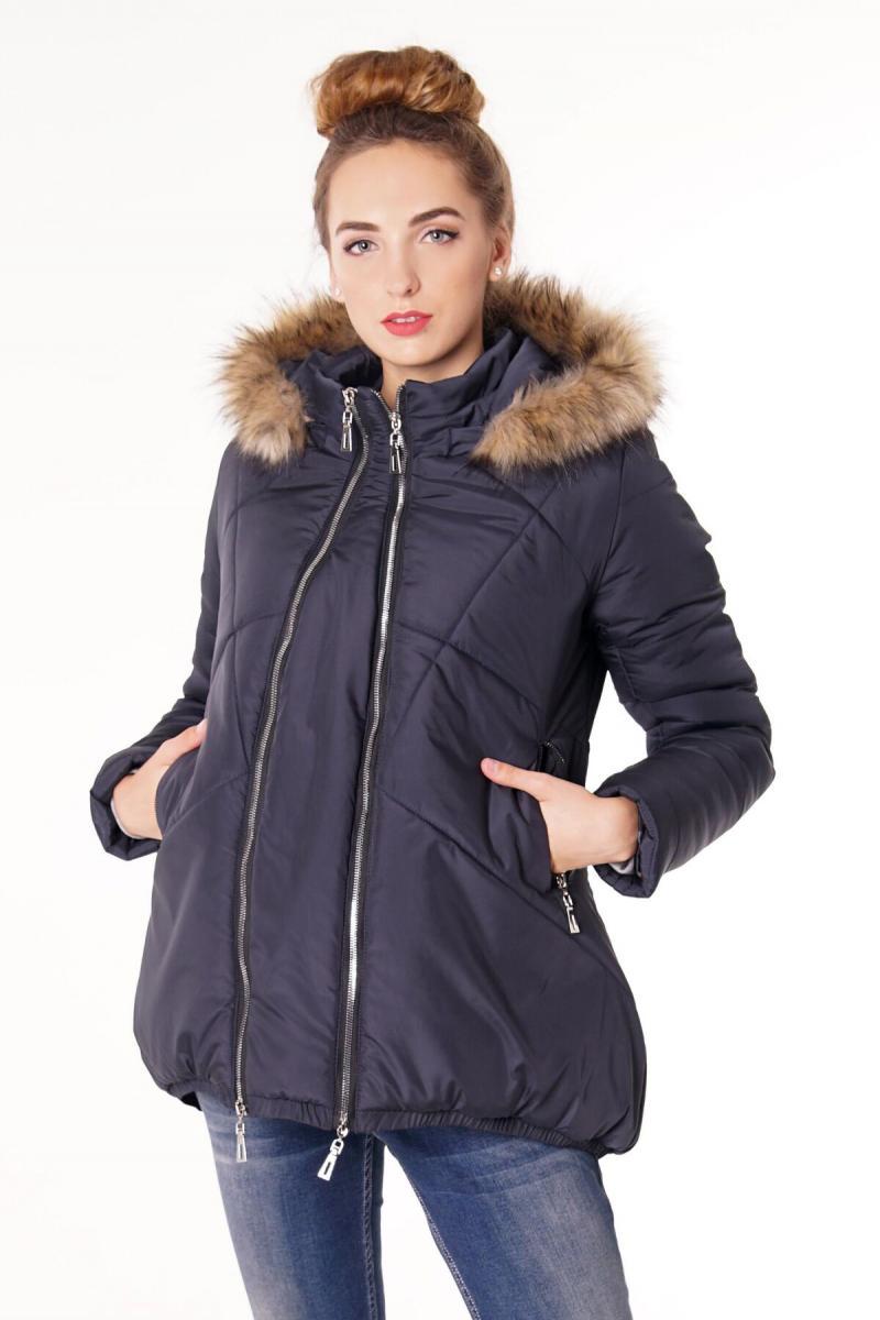 b5fd6eaecc09 Стильная зимняя курточка-трансформер для беременных и после «трапеция» синяя