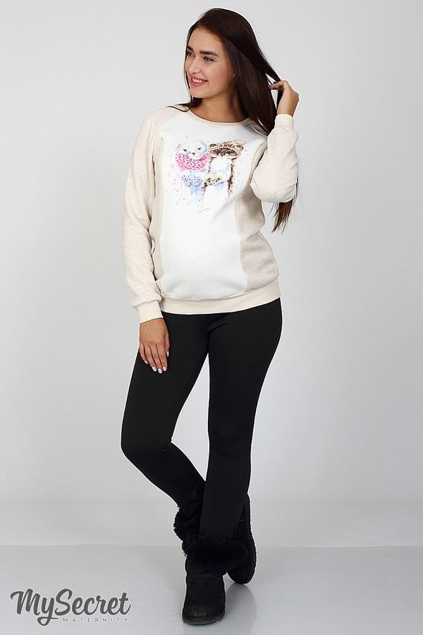 Подробнее Теплые брюки-лосины для беременных Kristi warm черный 71244705b6f47