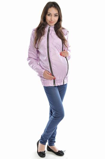 Слингокуртка демисезонная 3в1  беременность, слингоношение, обычная куртка  светло-лиловая 7df7268aba9