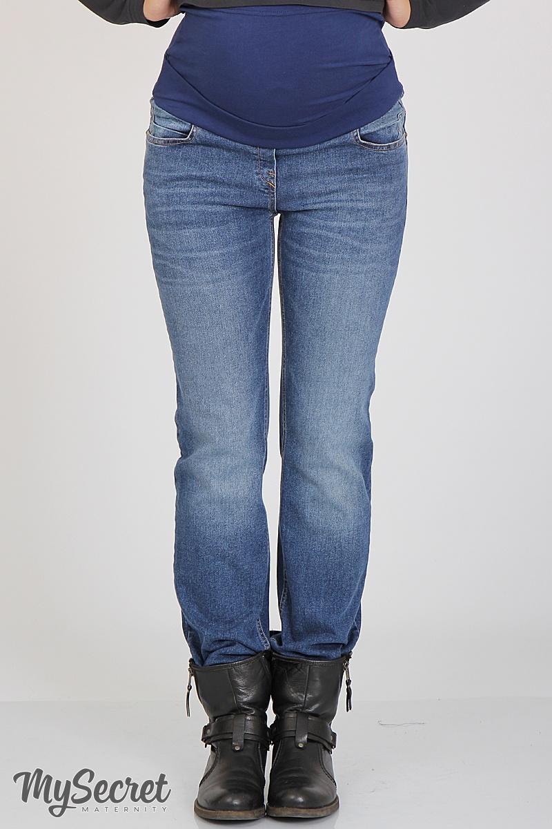 Прямые джинсы для беременных Slim fit Charlize синий с потертостями Размер M c07907b3b4e