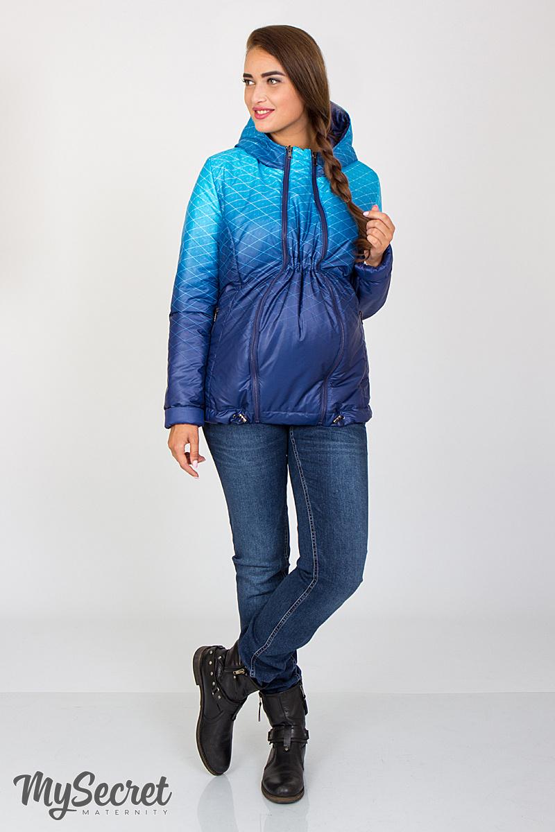 Демисезонная двухсторонняя куртка для беременных Floyd сине-аквамариновый  купон + темно-синий 4d5347fc156