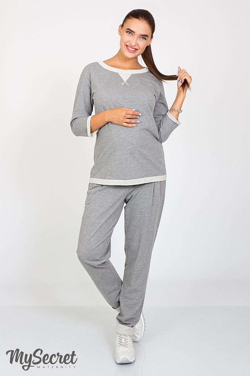 dee4d4fa5acb Спортивные брюки для беременных и после Sonic серый меланж   ОДЕЖДА ...