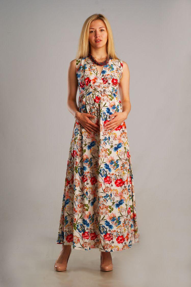 3c280616631 Длинное летнее платье для беременных и после с нежным цветочным узором