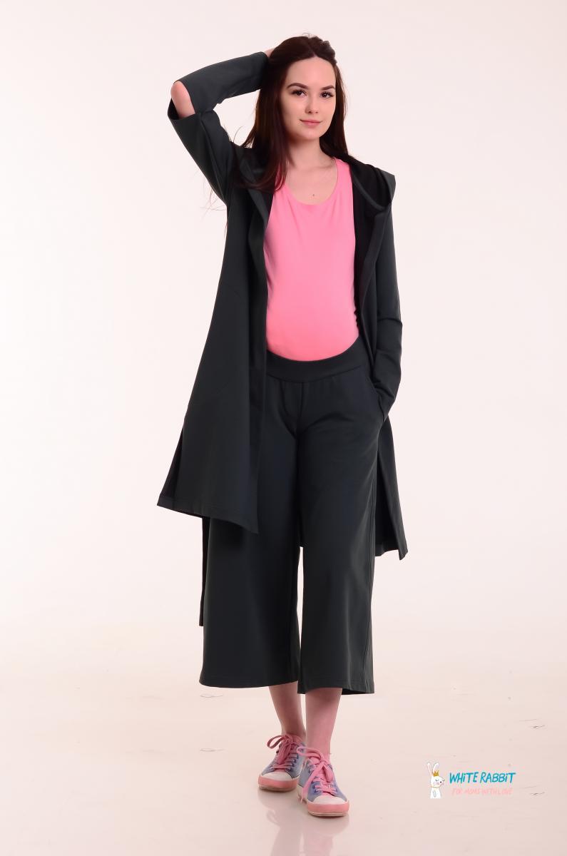 Стильные брюки-кюлоты для беременных Happy pants оливково-серые ... 6632367d2bcfa