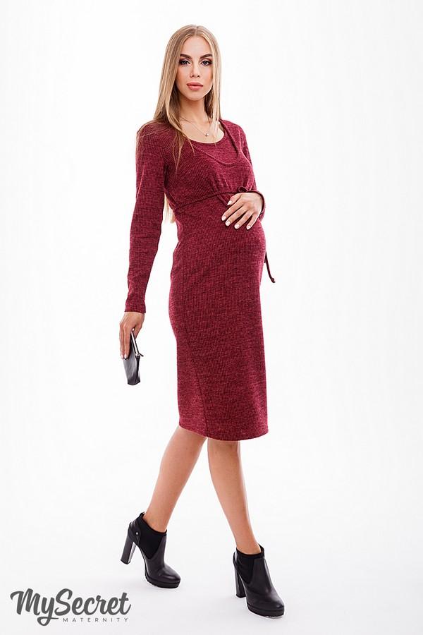 b67a50433f7 Лаконичное и функциональное платье для беременных и кормящих Maribeth  марсала меланж